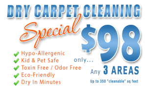 dry carpet cleaning special