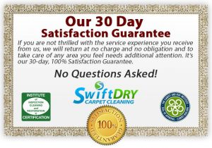 Swift Dry Carpet Cleaning Guarantee