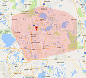 Swift Dry Carpet Cleaning Service Area - Orlando - Longwood